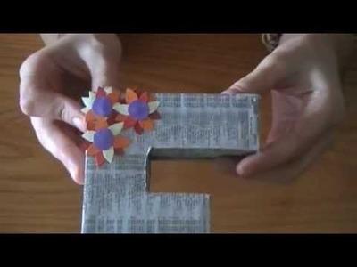 Cómo hacer letras decorativas con cartón en Elmimimundo