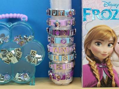 Como hacer pulseras de Frozen | Set para hacer pulseras de Elsa Anna y Olaf | Juguetes Frozen