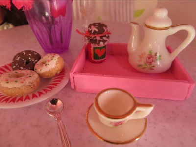 Cómo hacer una bandeja para muñecas | Doll food tray