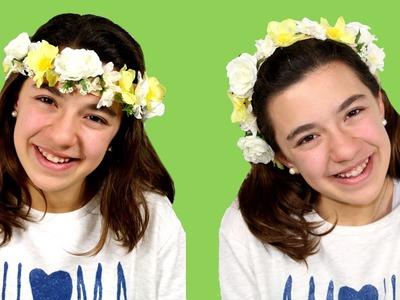 Cómo hacer una corona de  flores o diadema