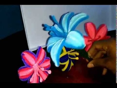 Como hacer una flor con limpiapipas