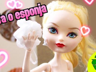 Cómo hacer una luffa o esponja de baño para tu muñeca