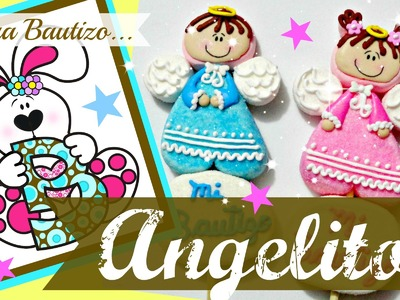 Como hacer unos tiernos angelitos de bombón para bautizo - How to make a marshmallow little angels