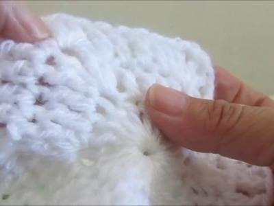 Como tejer un Capullo para bebé en crochet con baretas