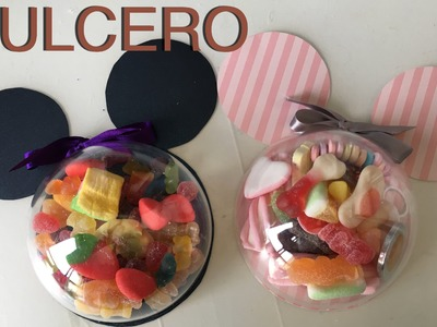 Crea tu dulcero para fiestas de Mickey y Minnie Mouse