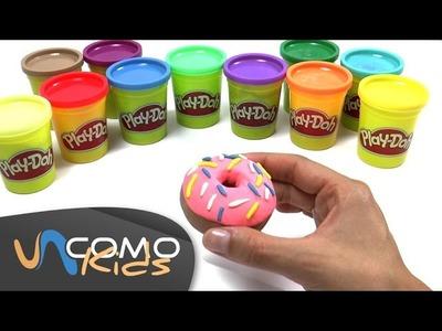 Hacer donas con plastilina Play Doh