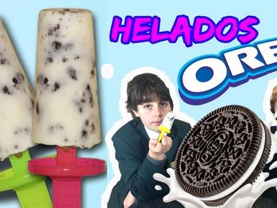 HELADOS de OREO y yogur * RECETAS faciles para NIÑOS