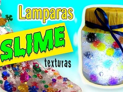 Lámparas de SLIME con texturas * EXPERIMENTOS CASEROS con slime