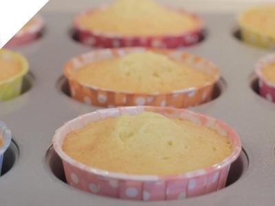 Mi mejor receta de Cupcakes de vainilla | Recetas de Cupcakes por Azúcar con Amor