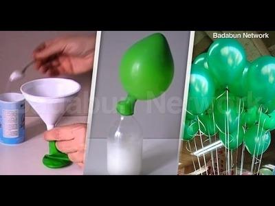 Mira el truco de los japoneses para inflar globos. Nunca más usarás helio