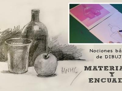 Nociones básicas de dibujo: Materiales y encuadre