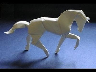 Origami instrucciones de plegado : caballo