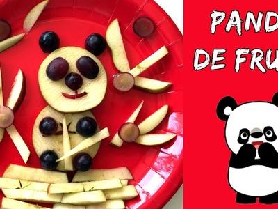 OSO PANDA de fruta * Meriendas faciles para niños