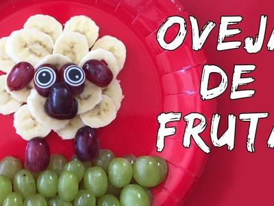 Oveja de fruta* MERIENDAS FÁCILES  y rápidas para niños