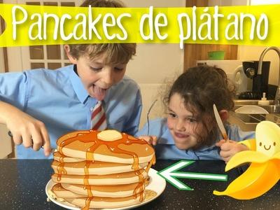 PANCAKES o tortitas de platano * Sólo 2 INGREDIENTES sin harina