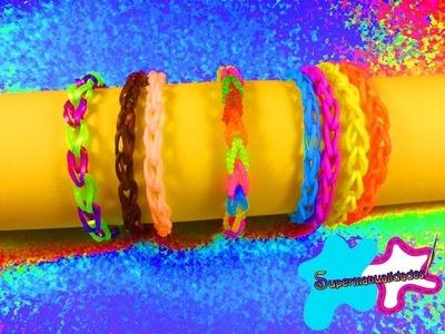 Pulsera de cadena doble con ligas.gomitas (sin telar) 〄SUPERMANUALIDADES〄