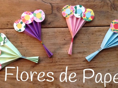 Ramo de FLORES de papel | REGALOS caseros para el dia de la madre