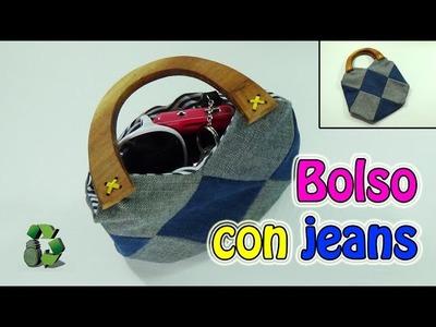 180. Manualidades: Como hacer Bolso con jeans viejos (Reciclaje) Ecobrisa.