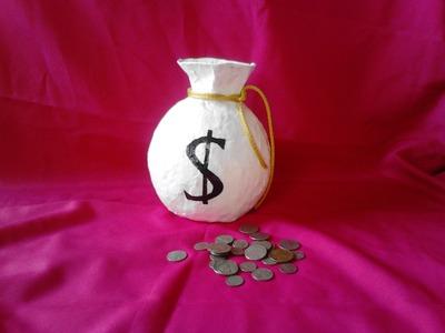 Alcancia   saco de dinero