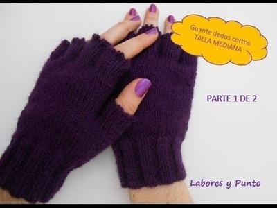 Aprende a tejer estos guantes talla mediana a dos agujas. Parte 1 de 2