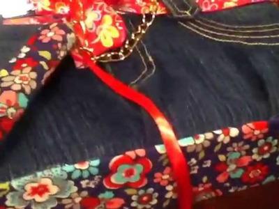 Bolsa y funda para ipod de mezclilla.jeans