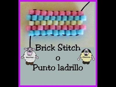 Brick Stitch o Punto Ladrillo con delicas Miyuki