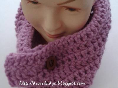 Como hacer cuello fácil o bufanda en ganchillo pasó a paso