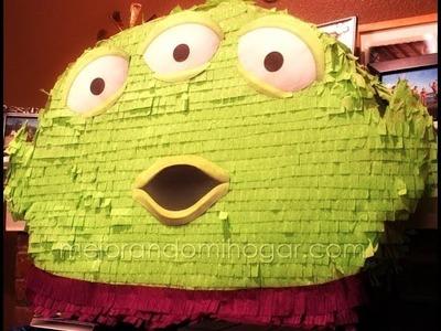 Como hacer una Piñata de cartón del Alien de Toy Story