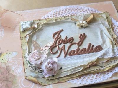 Libro de firmas boda: Jose y Natalia (Scrapbooking)