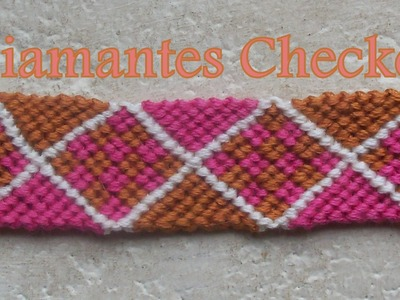 Pulsera de Hilo: Diamantes Checker