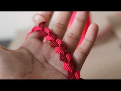 Pulseras de hilo faciles para regalar en san valentin parte 3