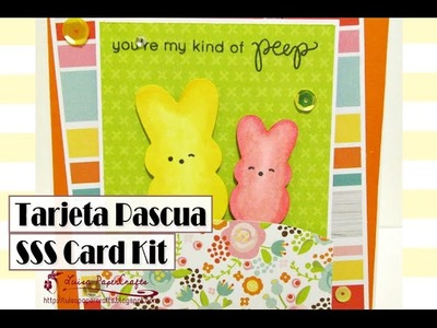 Tarjeta para Pascua - SSS March 2016 Card Kit - Easter Card Tutorial