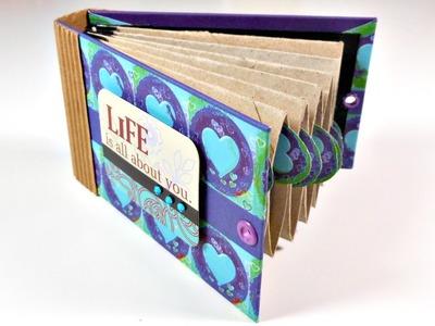 Tutorial: Mini álbum con material reciclado   Scrapbooking y Reciclaje   Mundo@Party