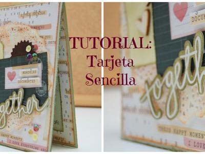 TUTORIAL Tarjeta Estructura Sencilla (DT PLAY SCRAP)