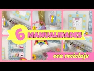 6 MANUALIDADES CON RECICLAJE