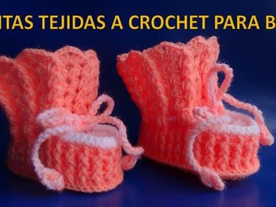 Botitas o zapatitos tejidos a crochet para bebe paso a paso