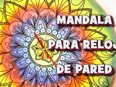 COMO HACER MANDALA PARA RELOJ DE PARED