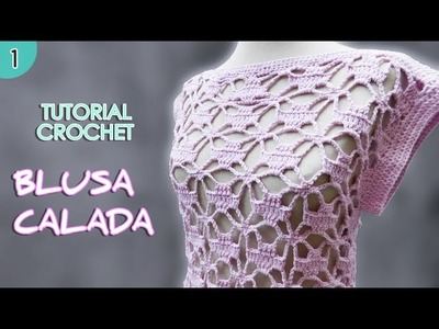 Como tejer una blusa o remera a crochet para mujer (1.2)