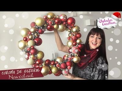 Corona Navideña con Esferas :: Chuladas Creativas