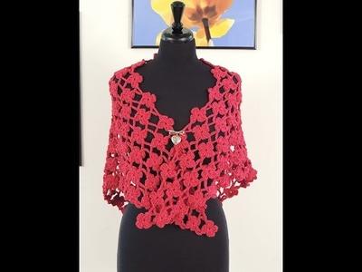 "Crochet: Chal Flora en ""V"""