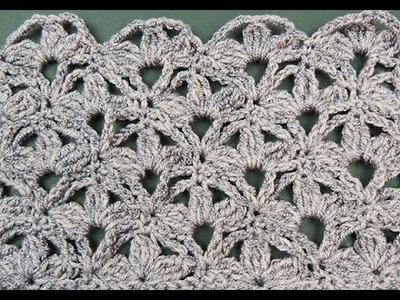 Crochet: Hojas en Doble Punto Alto