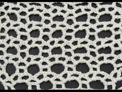 Crochet: Punto Calado Circulo