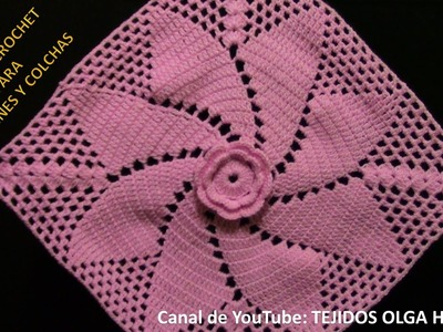 Cuadro tejido a crochet para cojines y colchas- TEJIDOS OLGA HUAMAN