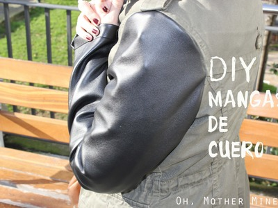DIY Chaqueta con mangas de cuero. DIY Sewing Leather Sleeves