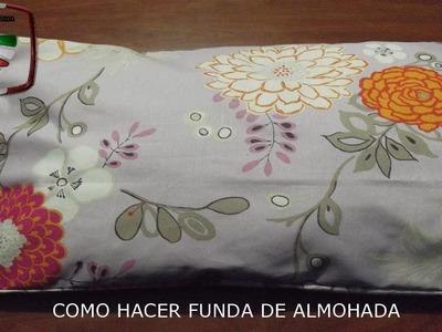 DIY: COMO HACER FUNDA DE ALMOHADA