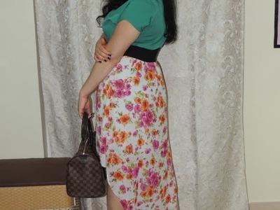 DIY De vestido a Falda asimetrica