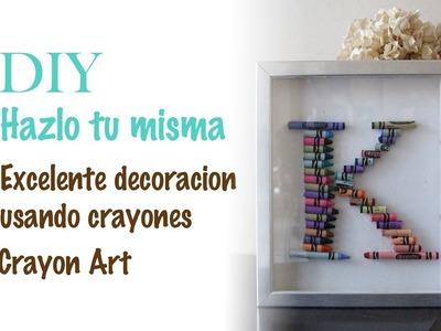 """DIY hazlo tu misma  """"Cuadro con Crayones"""" Crayons Art"""