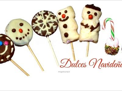 DULCES para NAVIDAD: Cake pops navideños de Oreo y nubes (malvaviscos)