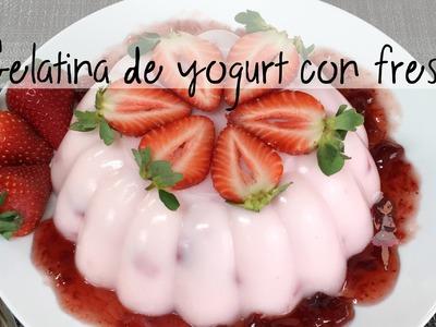 Gelatina de yogurt de fresa