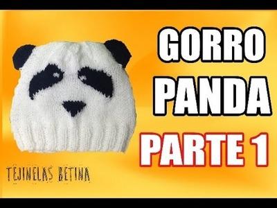 Gorro de PANDA | Tutorial | Parte 1 | Tejinelas